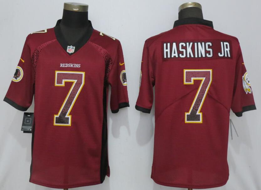 Nike Redskins 7 Dwayne Haskins Jr Burgundy Drift Fashion Limited Jersey