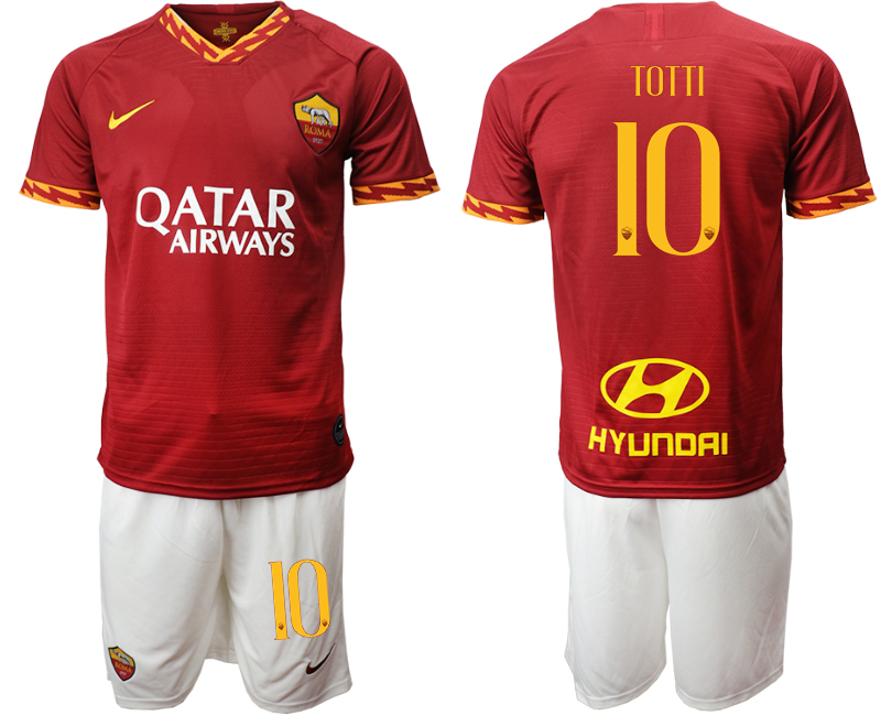 2019-20 Roma 10 TOTTI Home Soccer Jersey