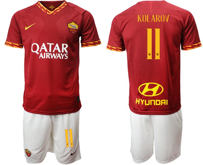 2019-20 Roma 11 KOLAROV Home Soccer Jersey