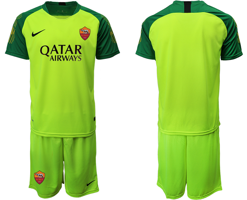 2019-20 Roma Green Goalkeeper Soccer Jersey