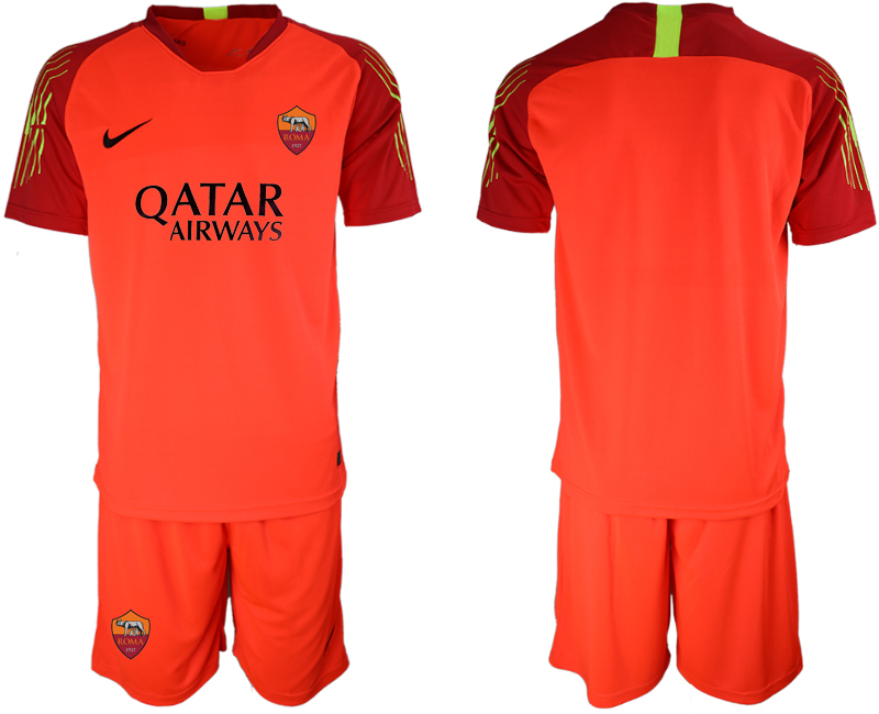 2019-20 Roma Orange Goalkeeper Soccer Jersey