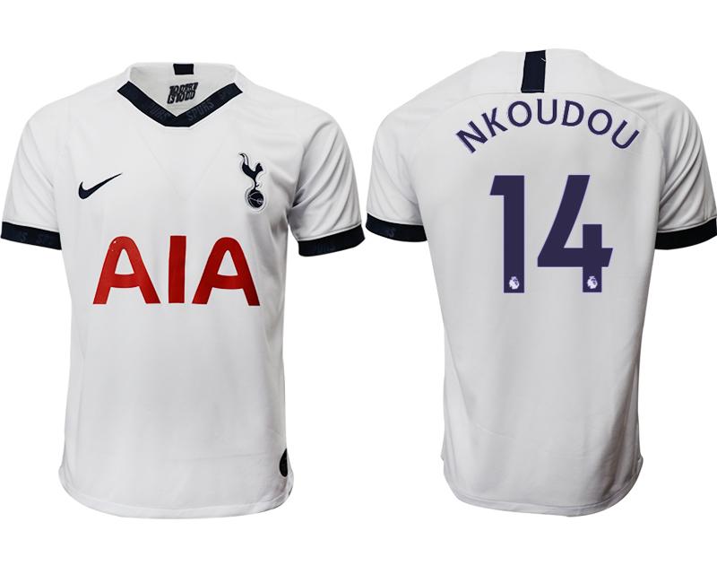 2019-20 Tottenham Hotspur 14 NKOUDOU Home Thailand Soccer Jersey