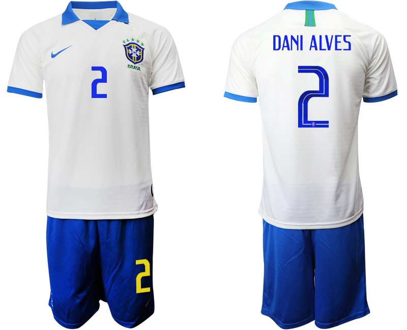 2019-20 Brazil 2 DANI ALVES White Special Edition Soccer Jersey