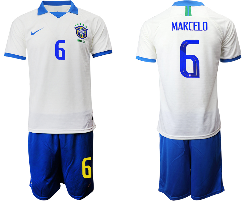 2019-20 Brazil 6 MARCELO White Special Edition Soccer Jersey