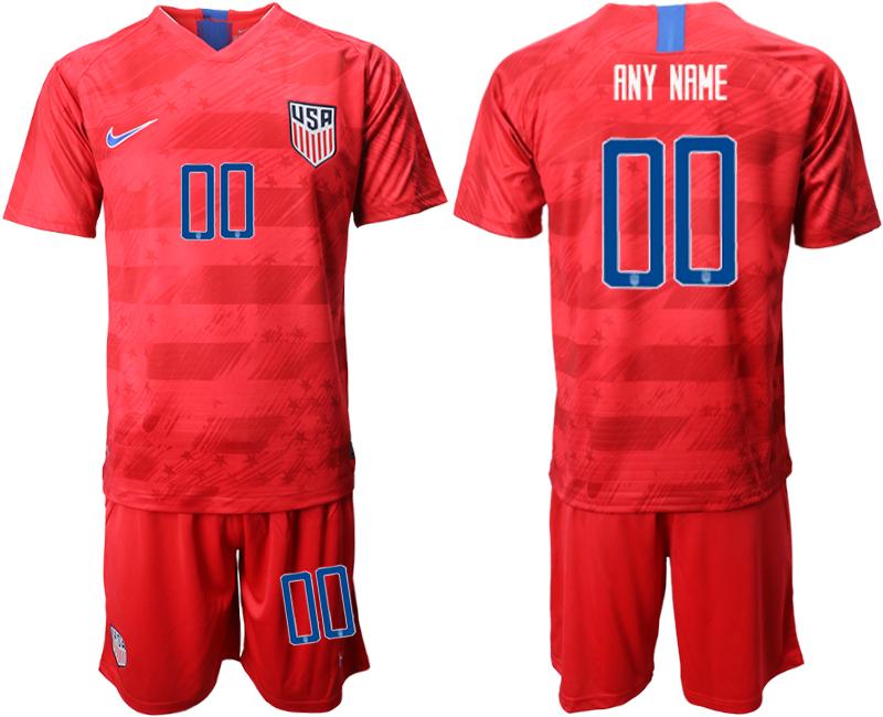 2019-20 USA Customized Away Soccer Jersey