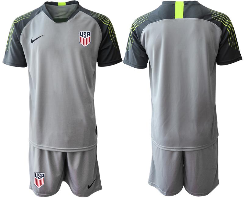 2019-20 USA Gray Goalkeeper Soccer Jersey