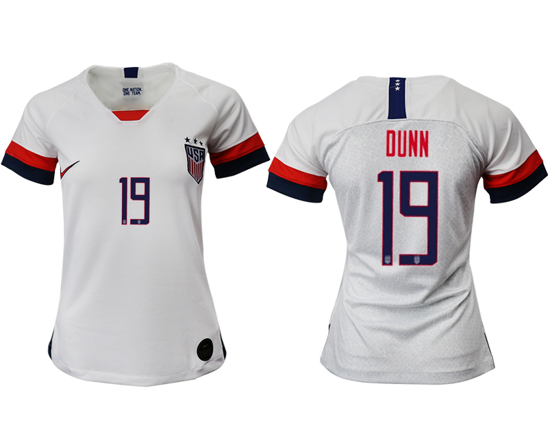 2019-20 USA 19 DUNN Home Women Soccer Jersey