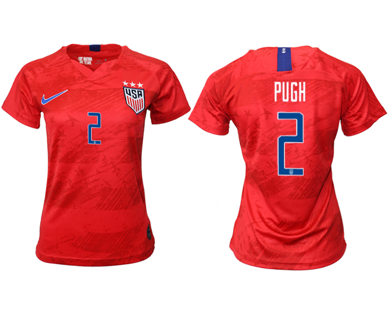 2019-20 USA 2 PUGH Away Women Soccer Jersey
