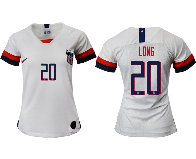 2019-20 USA 20 LONG Home Women Soccer Jersey