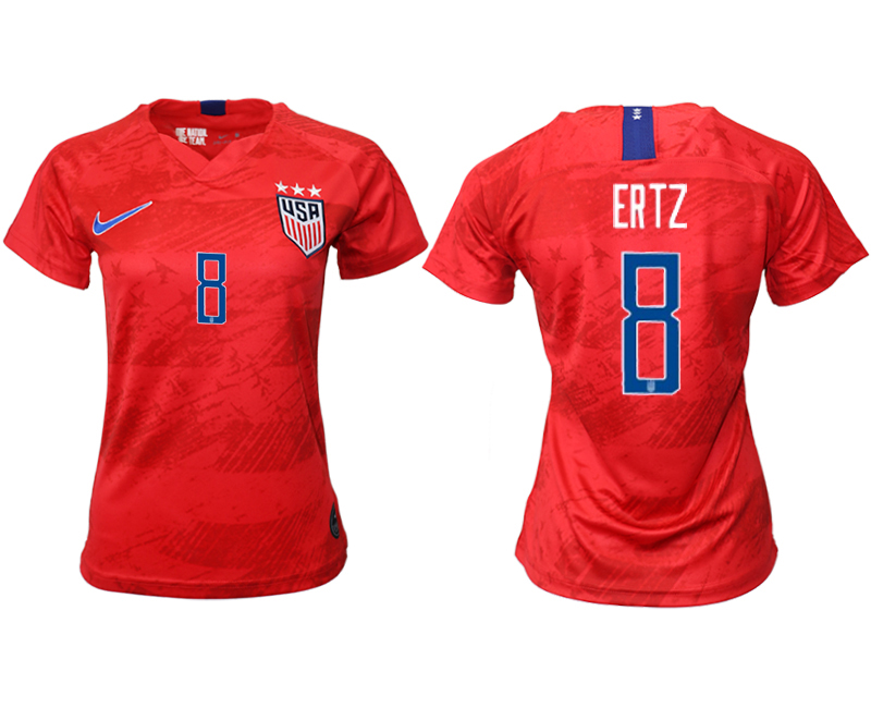 2019-20 USA 8 ERTZ Away Women Soccer Jersey