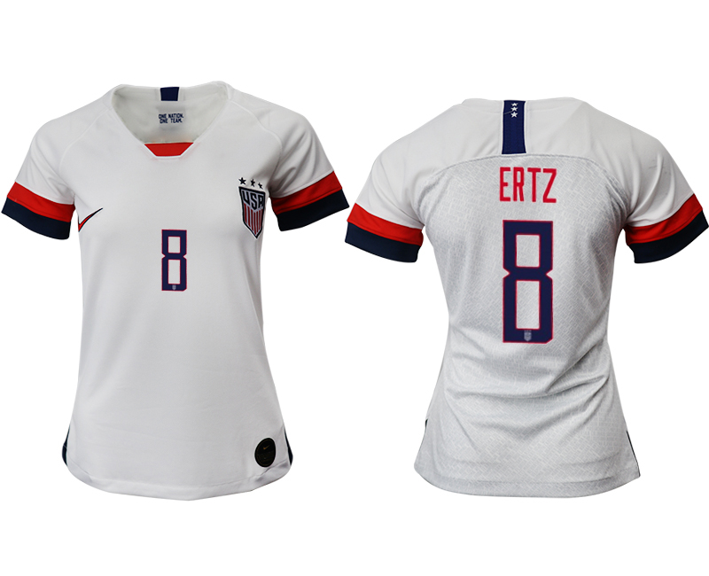 2019-20 USA 8 ERTZ Home Women Soccer Jersey
