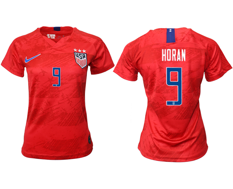 2019-20 USA 9 HORAN Away Women Soccer Jersey