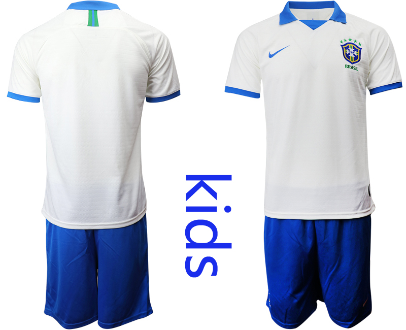 2019-20 Brazil White Special Edition Youth Soccer Jersey