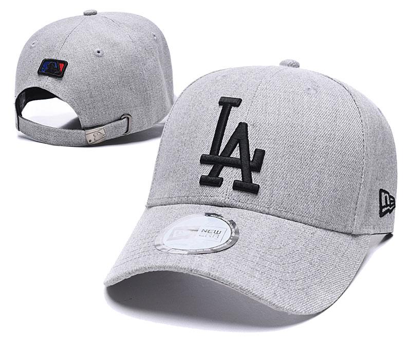 Dodgers Fresh Logo Gray Peaked Adjustable Hat TX
