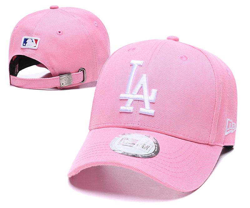 Dodgers Fresh Logo Pink Peaked Adjustable Hat TX