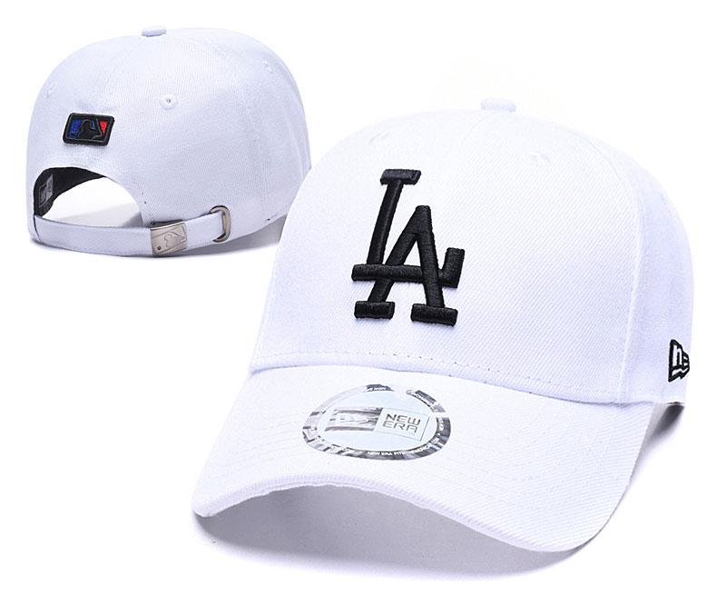 Dodgers Fresh Logo White Peaked Adjustable Hat TX