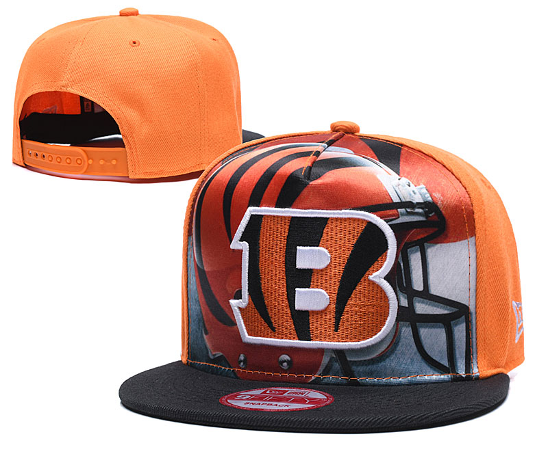 Bengals Team Logo Yellow Black Adjustable Leather Hat TX