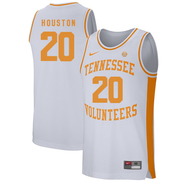 Tennessee Volunteers 20 Allan Houston White College Basketball Jersey