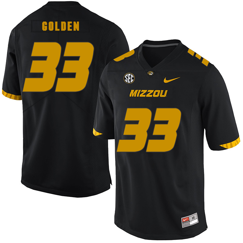 Missouri Tigers 33 Markus Golden III Black Nike College Football Jersey