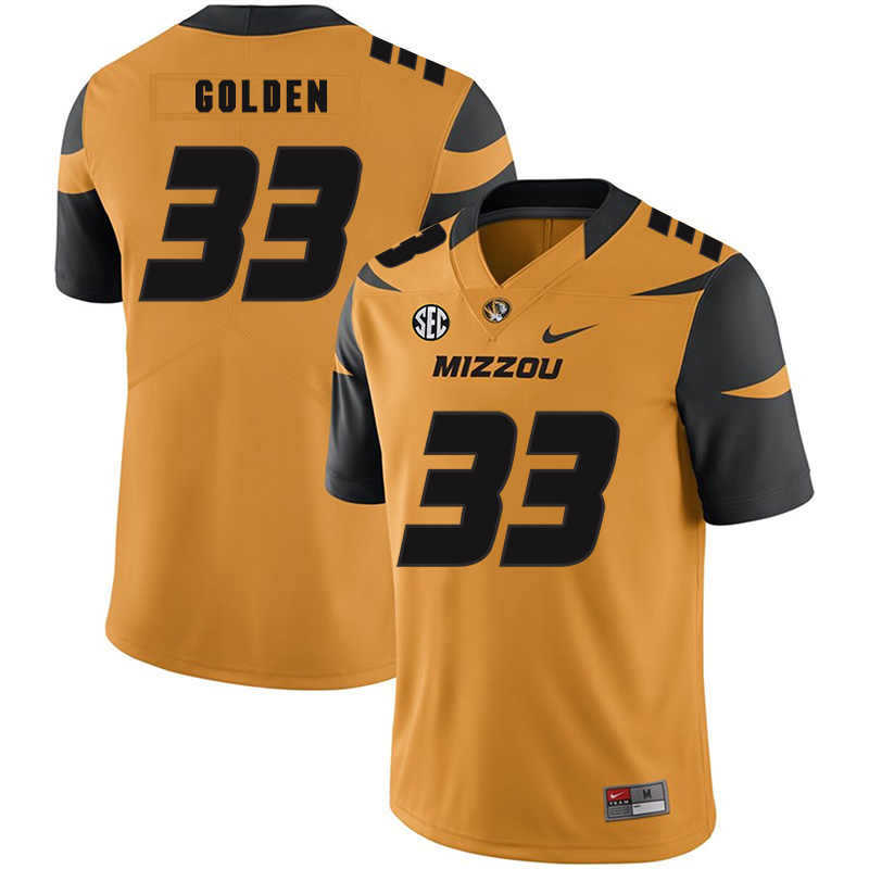 Missouri Tigers 33 Markus Golden III Gold Nike College Football Jersey