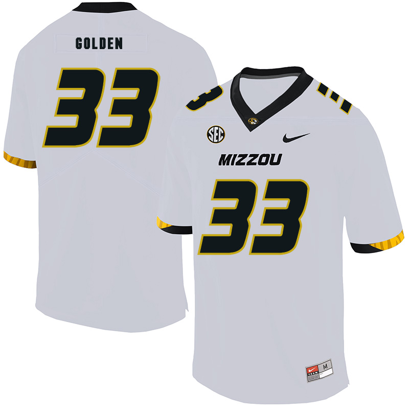 Missouri Tigers 33 Markus Golden III White Nike College Football Jersey