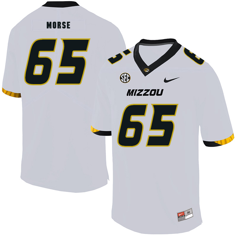 Missouri Tigers 65 Mitch Morse White Nike College Football Jersey