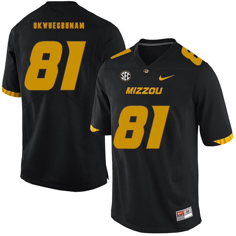 Missouri Tigers 81 Albert Okwuegbunam Black Nike College Football Jersey