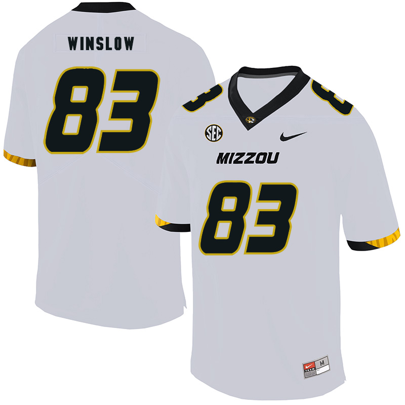 Missouri Tigers 83 Kellen Winslow White Nike College Football Jersey