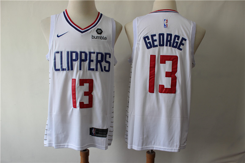 Clippers 13 Paul George White Nike Swingman Jersey