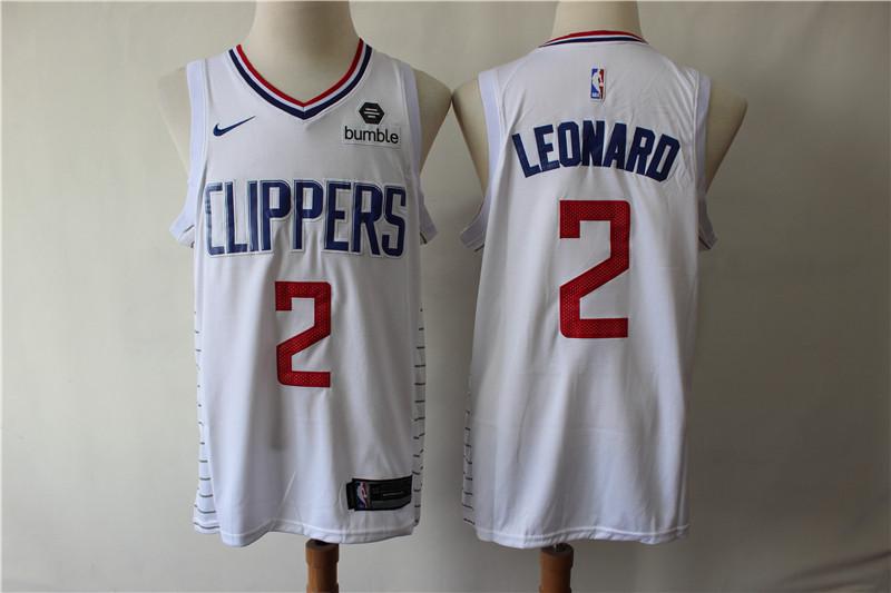 Clippers 2 Kawhi Leonard White Nike Swingman Jersey