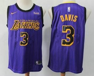 Lakers 3 Anthony Davis Purple City Edition Nike Swingman Jersey