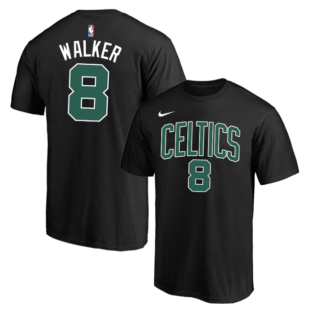 Boston Celtics 8 Kemba Walker Black Nike T-Shirt