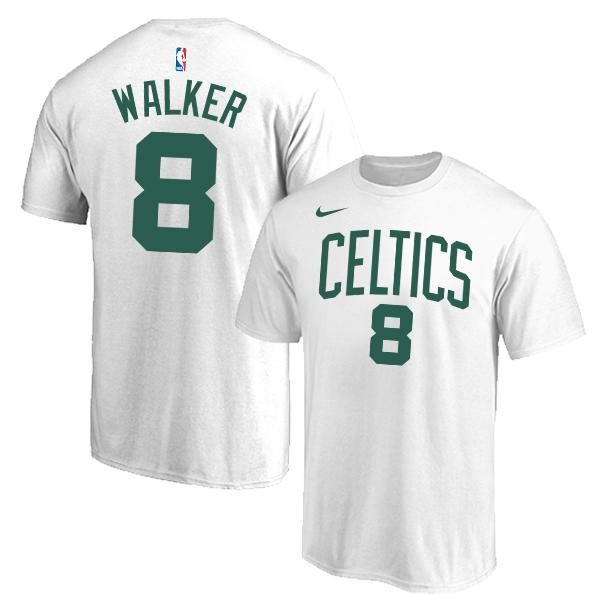 Boston Celtics 8 Kemba Walker White Nike T-Shirt