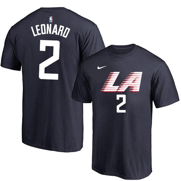 Los Angeles Clippers 2 Kawhi Leonard Black City Edition Nike T-Shirt