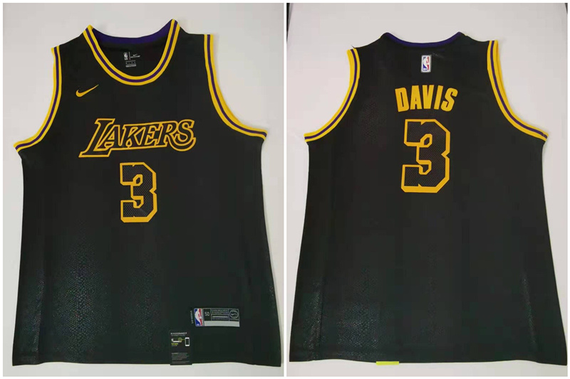 Lakers 3 Anthony Davis Black Nike City Edition Swingman Jersey