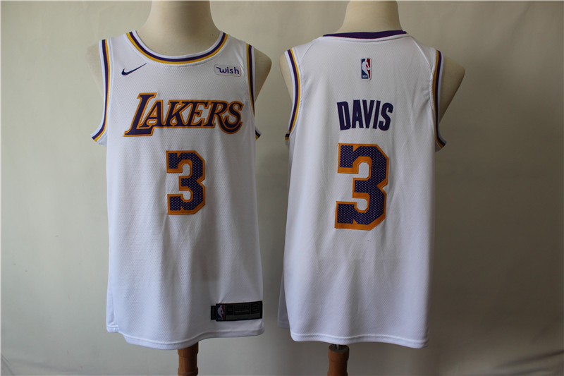 Lakers 3 Anthony Davis White Nike Swingman Jersey
