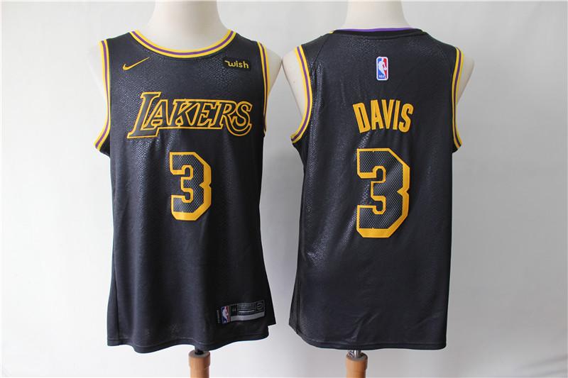 Lakers 3 Anthony Davis Black City Edition Nike Swingman Jersey