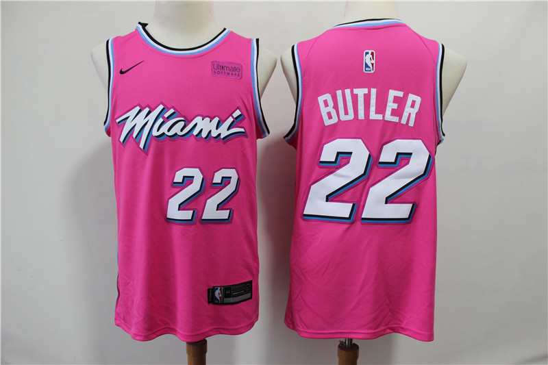 Heat 22 Jimmy Butler Pink Earned Edition Nike Swingman Jersey
