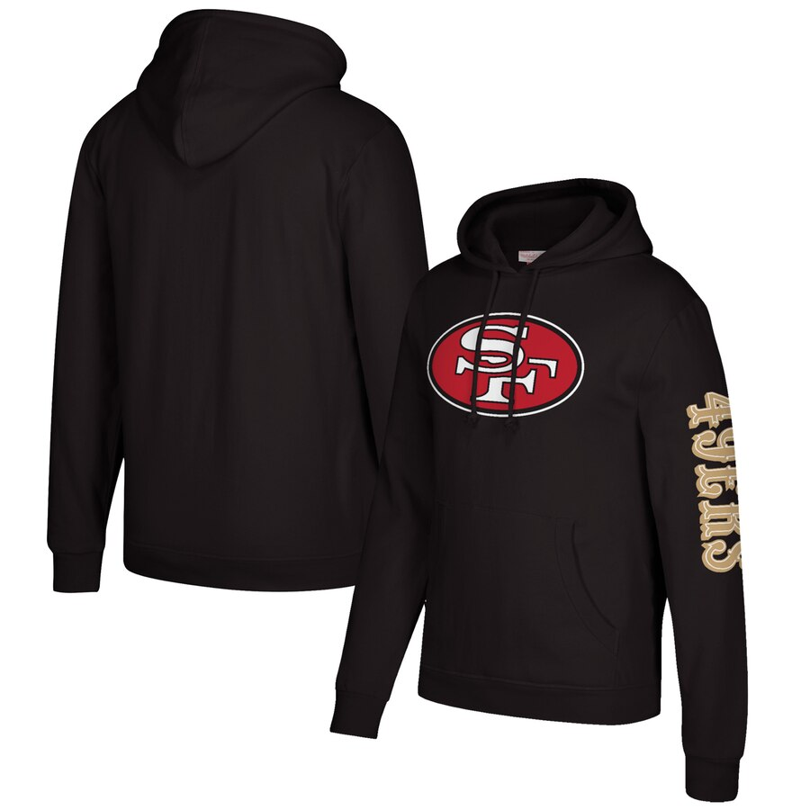 San Francisco 49ers Mitchell & Ness Classic Team Pullover Hoodie Black