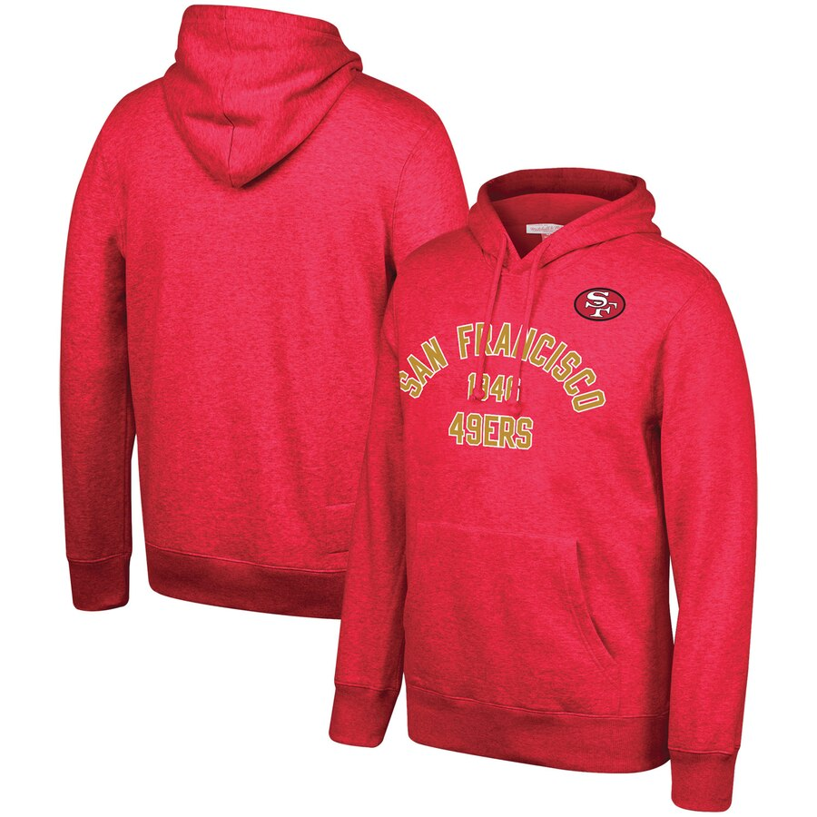 San Francisco 49ers Mitchell & Ness Team History Pullover Hoodie Scarlet