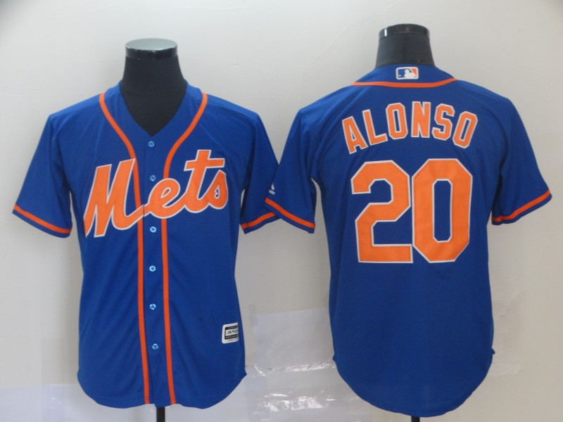Mets 20 Pete Alonso Royal Cool Base Jersey