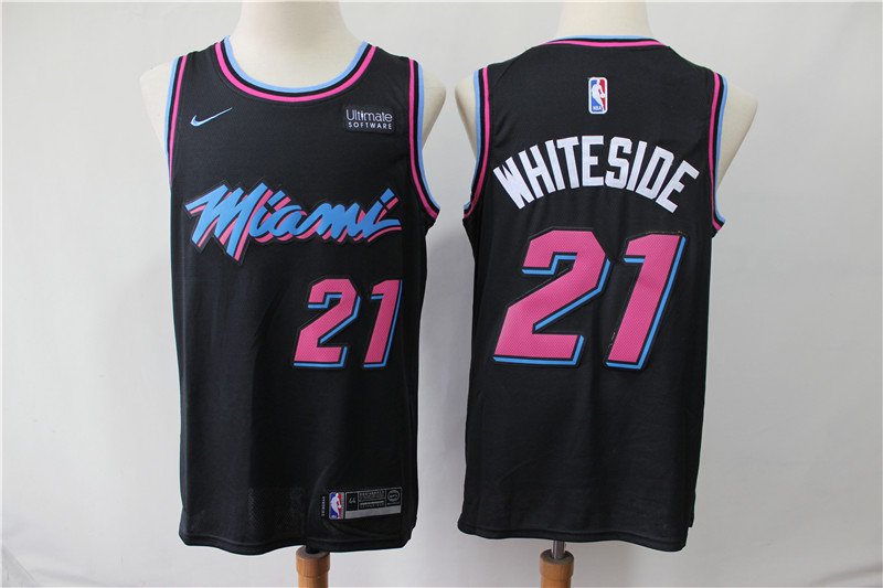 Heat 21 Hassan Whiteside Black City Edition Nike Swingman Jersey