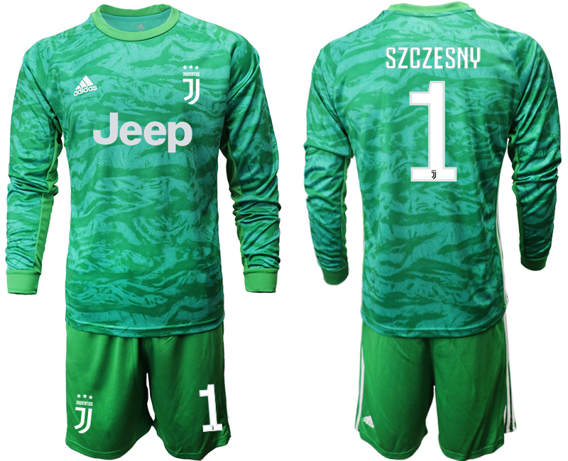 2019-20 Juventus 1 SZCZESNY Green Long Sleeve Goalkeeper Soccer Jersey