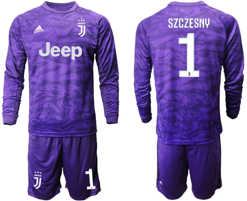 2019-20 Juventus 1 SZCZESNY Purple Long Sleeve Goalkeeper Soccer Jersey