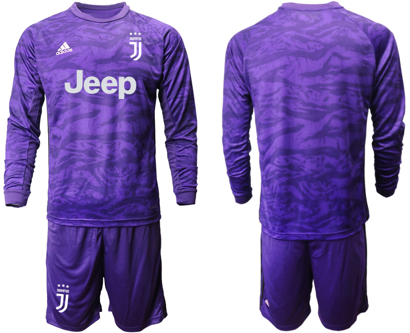 2019-20 Juventus Purple Long Sleeve Goalkeeper Soccer Jersey