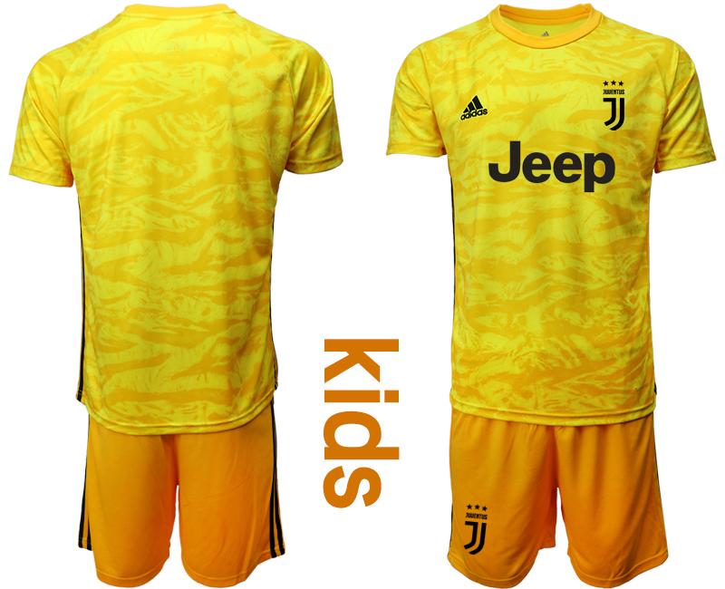2019-20 Juventus Yellow Youth Goalkeeper Soccer Jersey