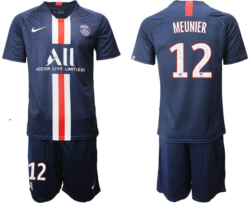 2019-20 Paris Saint-Germain 12 MEUNIER Home Soccer Jersey