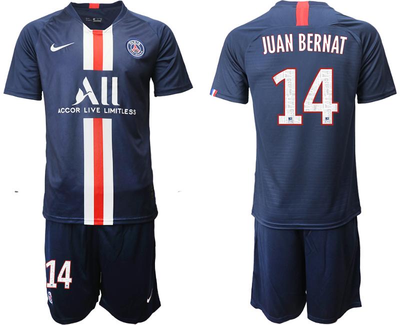 2019-20 Paris Saint-Germain 14 JUAN BERNAT Home Soccer Jersey