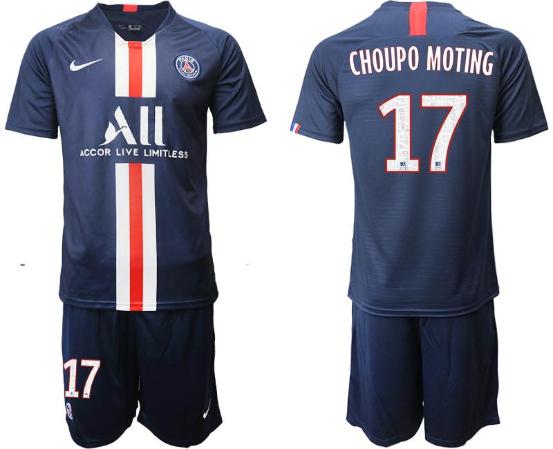 2019-20 Paris Saint-Germain 17 CHOUPO MOTING Home Soccer Jersey