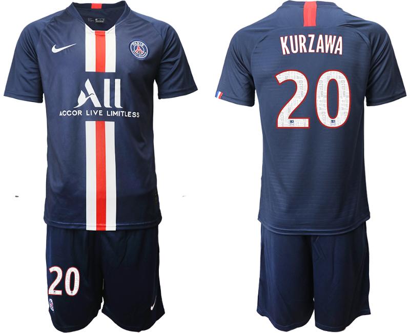 2019-20 Paris Saint-Germain 20 KURZAWA Home Soccer Jersey